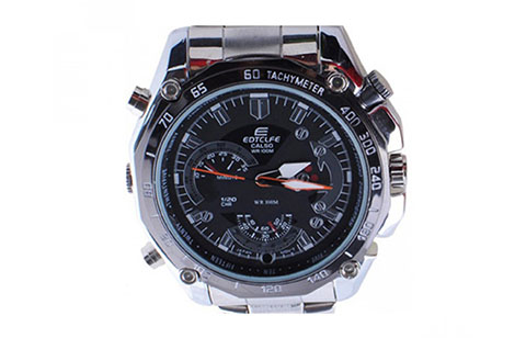 8GB Men Wrist Digital Camera Watch HP DV Video Recorder MP3 - Silver