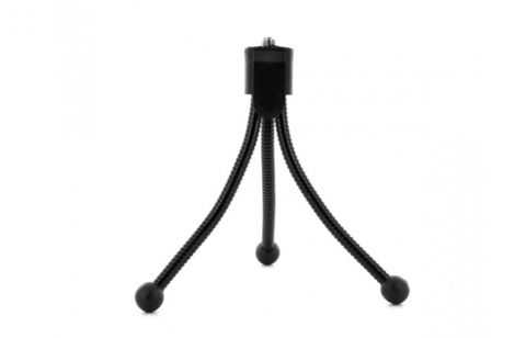 Mini Flexible Tabletop Travel Pocket Size Tripod for Digital Cameras - Black