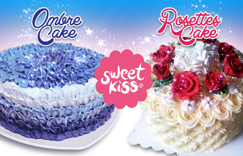 Ombre cake or Rosettes cake <i>Quezon City</i>