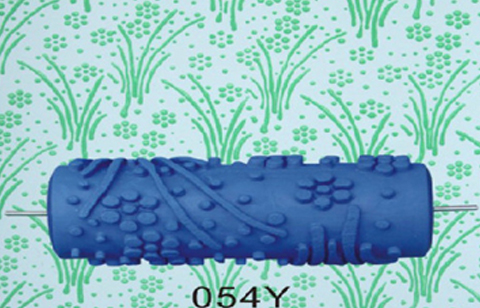 15cm Patterned Paint Roller Empaistic Flower Mould